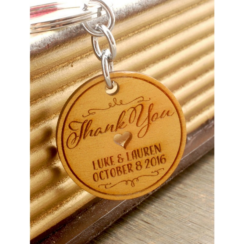 Vintage Wedding Car Keepsake In Gift Box In 2019: Personalized Engraved Gold Wooden Wedding Favor Key Chain