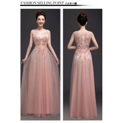 2017 New Arrival Bride Seashell Pink Evening Gown