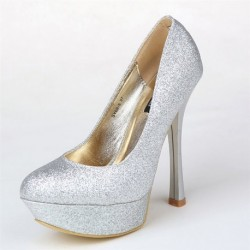 Luxury Bridal Metalic Pumps