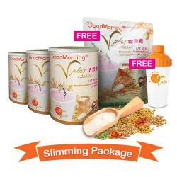 3 Tin of 1KG Vplus with FREE Convenience Pack ( 12 Vplus Sachets at 25g each ) and Vplus Shaker