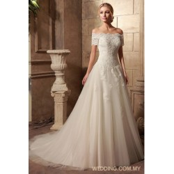 Diamante Beaded Embroidery And Sparkling Lace Appliques On Tulle