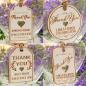 Personalized White Wooden Engraved Wedding Favor Gift Tags with Twine