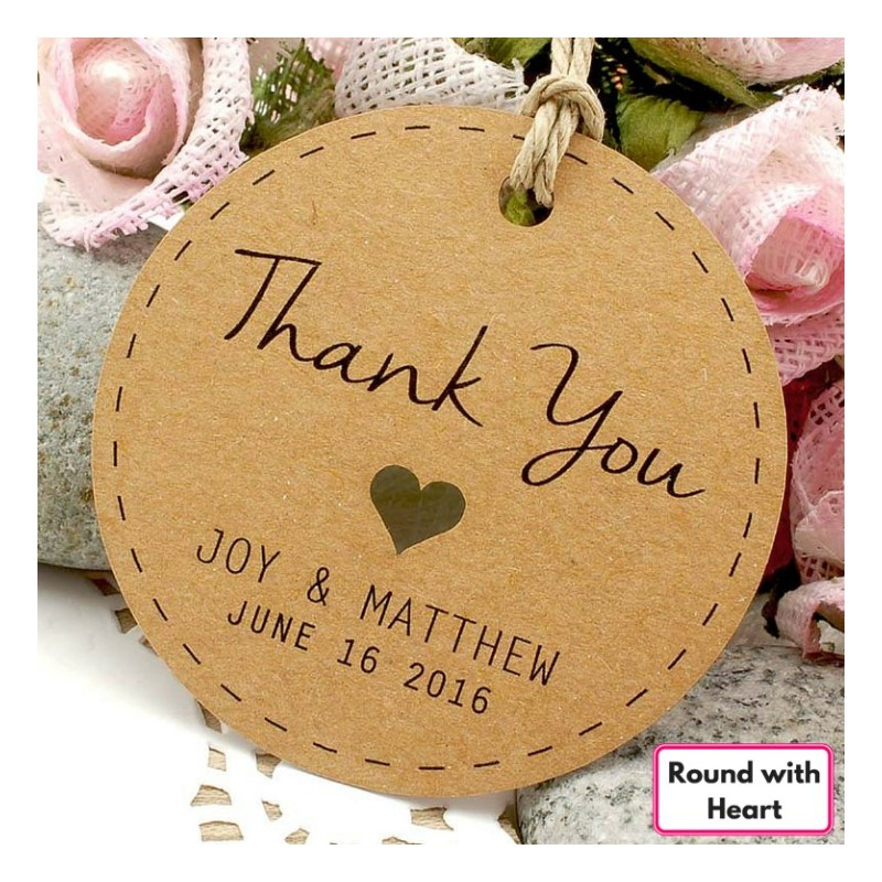 Wedding Thankyou Gifts: Personalized Brown Kraft Wedding Favor / Thank You / Gift
