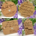 Personalized Kraft Wedding Favor Gift Tags with Twine ( Set B - 4 Designs )