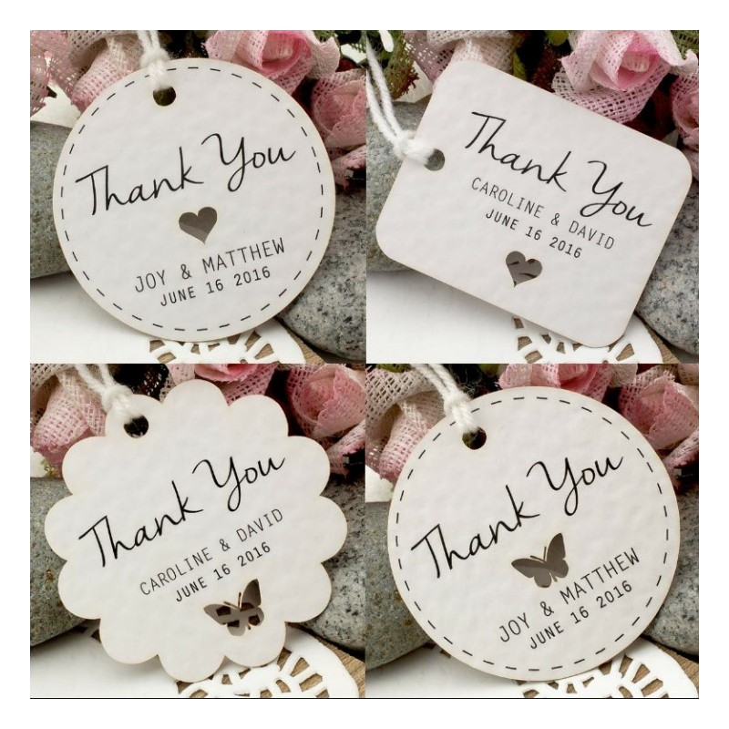 Thank You Gifts At Weddings: Personalized White Wedding Favor / Thank You / Gift Tags