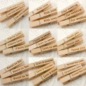 Wooden Pegs with Love Themed Engravings (Set A - 5 Designs)