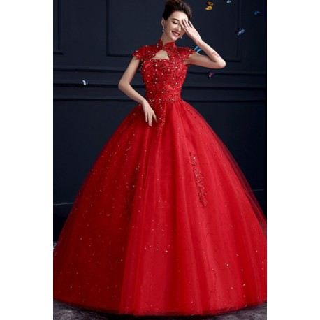 2016 New Summer Korean Style Off Shoulder Sequinns Wedding Dress