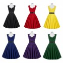 Vintage Retro Sweetheart Neckline Knee Length Cocktail Dress (4 Colors)