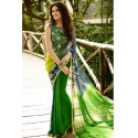 Sheer Classic Georgette Silk Saree - Green