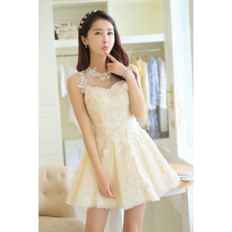 2016 New Spring Flower Lace Bridesmaid Dress