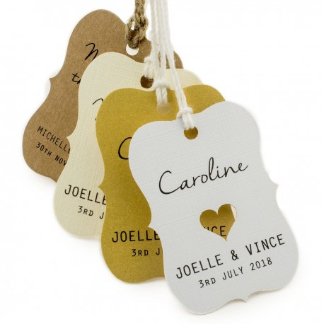 Individually Personalized Guest Names Little Violin Favor Tags