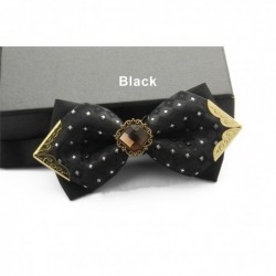 Korean Style Groom's Diamante Sharp-Edge Bow Tie-B