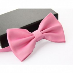 Groom's Matte Double Layer Pink Bow Tie