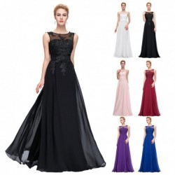 Classic Floral Sequined A-Line Evening Gown - Plus Sized (6 Colors)