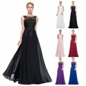 Classic Floral Sequined A-Line Evening Gown (8 Colors)