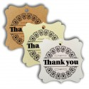 Elegant Square Thank You Gift Tags (3 Colors)