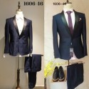 Groom's Slim Cut Dark Blue 2-Piece Suit