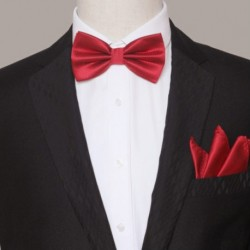 Korean Tuxedo Style Groom's Bow Tie & Pocket Scarfs
