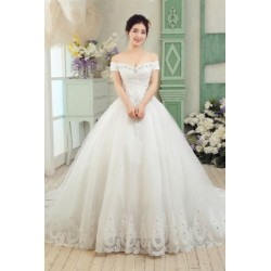 2017 New Arrival Vintage Lace & Diamante Wedding Dress