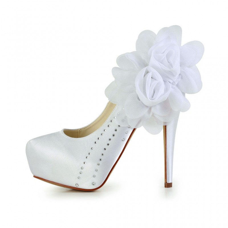 Audrey Pointed Flower Wedding Shoes