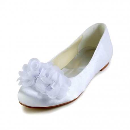 Rose Flower Flat Bridal Shoes