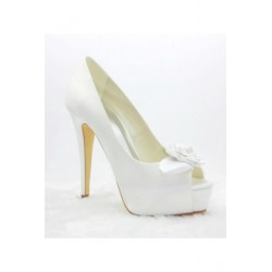 Daisy Peep-Toe Wedding Shoes
