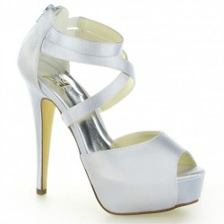 Punto Peep-Toe Wedding Shoes