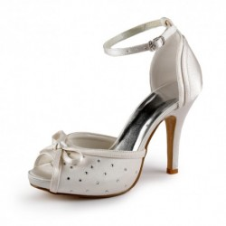 Anisa Peep-Toe Wedding Shoes