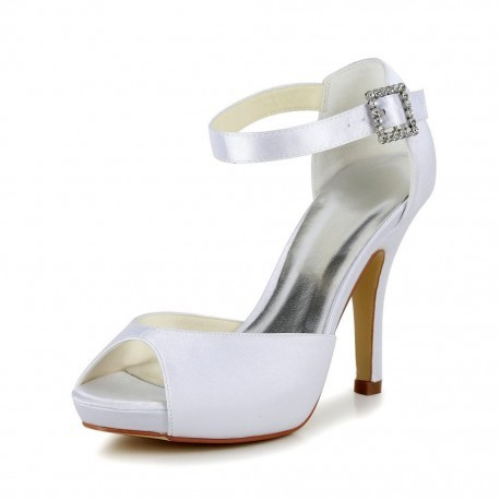 Ava Peep-Toe Wedding Shoes