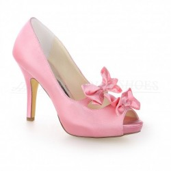 Ona Peep-Toe Wedding Shoes