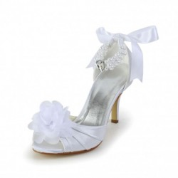 Betty Peep-Toe Wedding Shoes