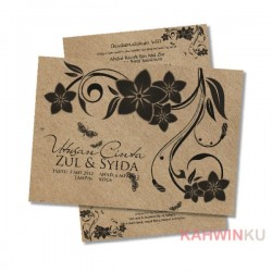 Kraft Paper Invitation Cards - 10