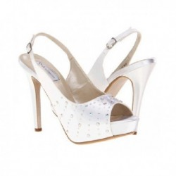 Sidney Ivory White Swarovski Rhinestone Wedding Shoes