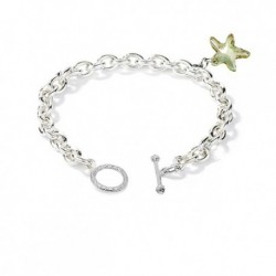 Ocean Starfish SWAROVSKI Elements Charms in 18K White Gold Plated