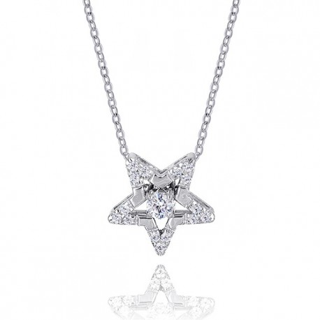 Kelvin Gems Premium Multiway Star Necklace Made With Austrian Zirconia