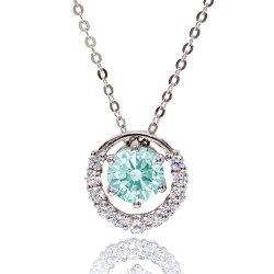 Kelvin Gems Premium Multiway Frost Mint Pendant Necklace