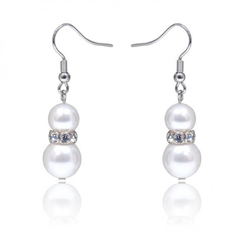 Kelvin Gems Glam Eugenia SWAROVSKI Pearl Hook Earrings m/w SWAROVSKI Elements