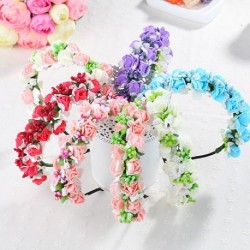 Floral Foam Wreath Flower Girl Headband (6 Designs)