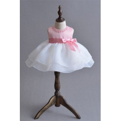 Baby Girl Dress Bowknot Pageant Dress Pink