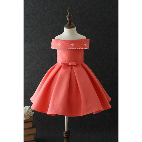 Chic and Luxury Crafted Patchwork Dress Orange 3-10y