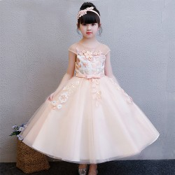 Ball Gown Floor - length Tulle Lace Flower Girl Dress