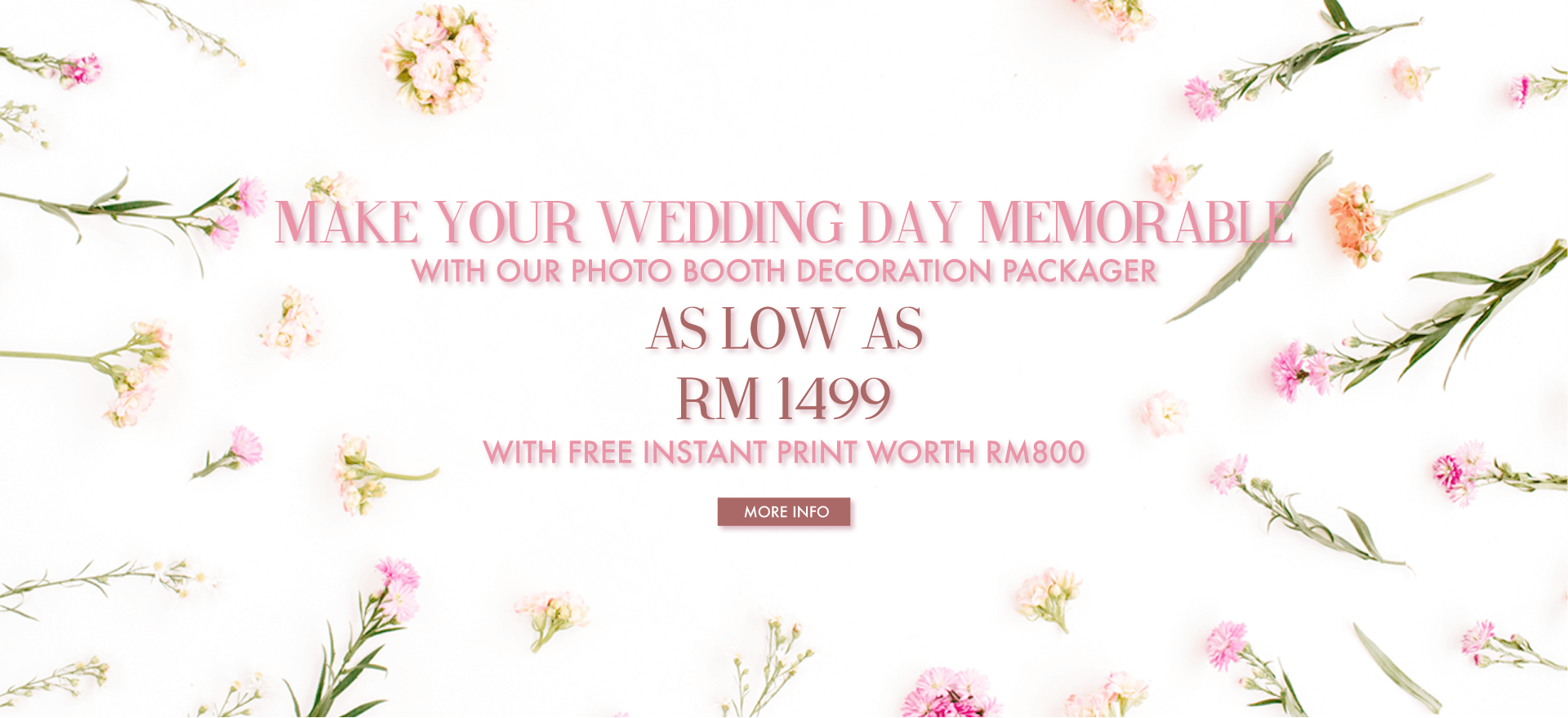 Photobooth Decoration + Free Instant Print Service