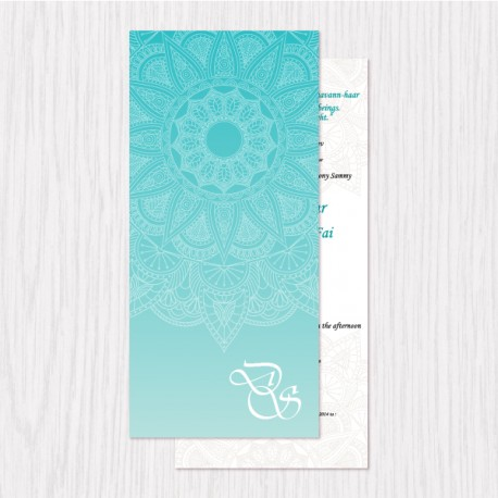 Flower Lace Sketch Flat Cards - 100 pcs (3 Colors)
