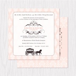 Classic Fairytale Printed Flat Cards - 100 pcs (3 Colors)