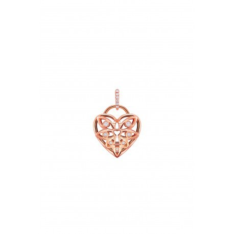 I love LOVE Elena Q2 rose gold diamond pendant