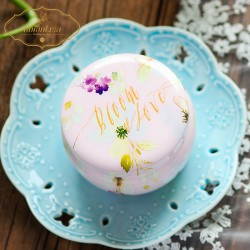 "Serasi ""Bloom of Love"" Round Tin Box - Small (100 Pieces)"