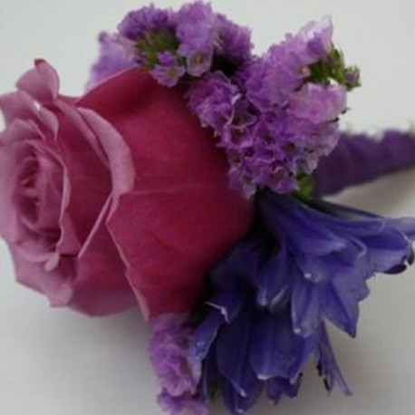 Summerpots Bridal Corsage & Boutonniere - Purple Haze