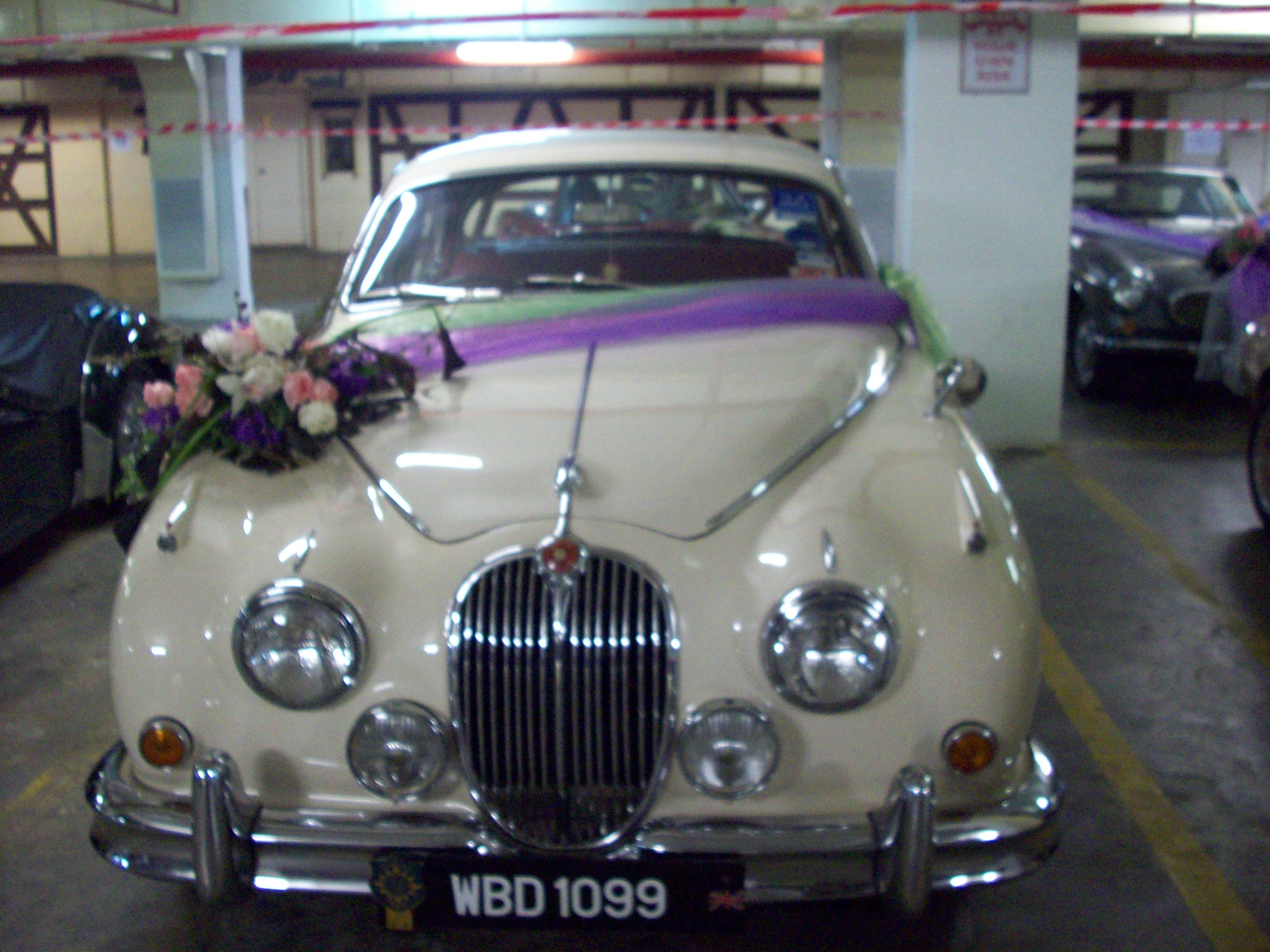 Beige Bridal Car ~ Jaguar MK2