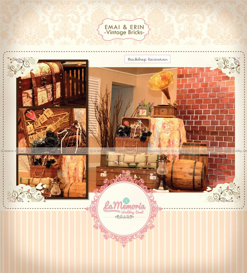 Theme Vintage Bricks Pelamin Photobooth Decoration
