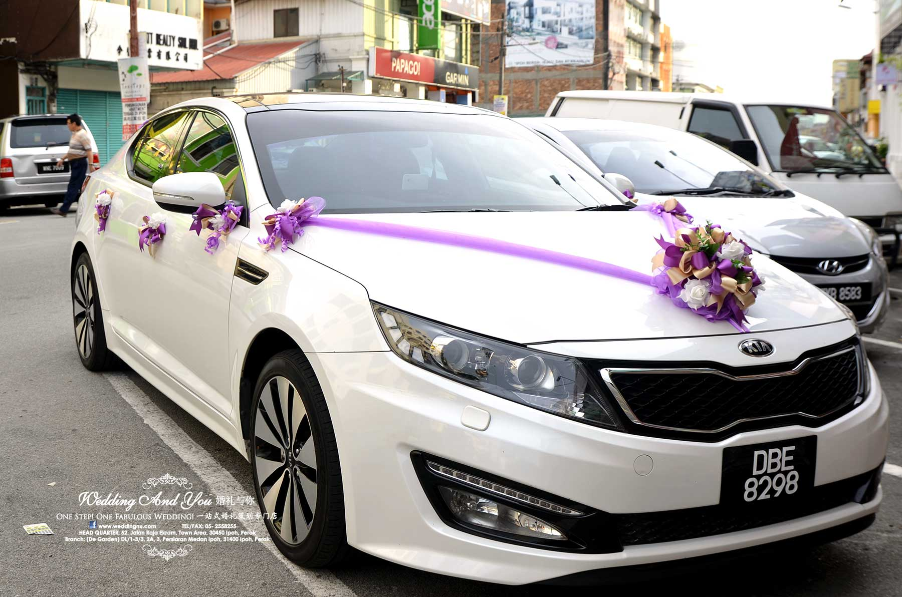 Wedding car decoration car for Automotive decoration